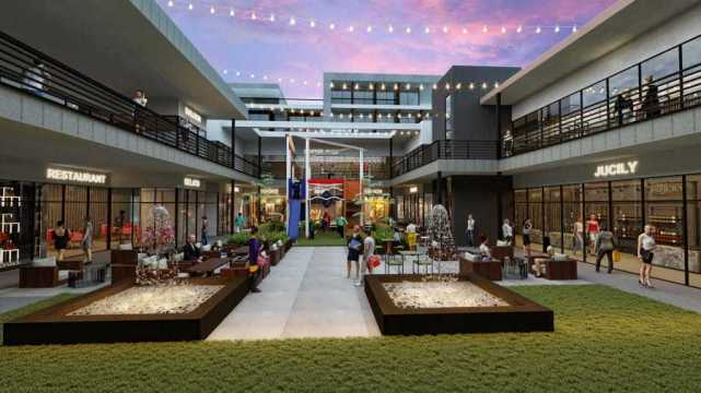 the BLOQ parq – The Plaza Casual Outdoor Dining & Kids Play Area